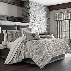 Five Queens Court Brody Southwest 4 Piece Comforter Set, Graphite, Queen 92x96