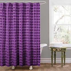 Lush Décor Emma Shower Curtain, 72 by 72-Inch, Purple