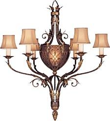 Fine Art Lamps 153140ST Villa 1919 6+1-Light Single-Tier Chandelier