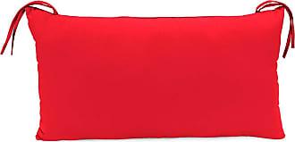 Jordan Manufacturing Company 15 x 8 x 4 Sunbrella Classic Headrest Pillow w/Ties, Jockey Red