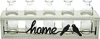 Foreside Home And Garden 5 Bottle Home Bud Vase Rack