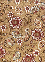 Tayse Delphine Transitional Floral Beige Non-Skid Rectangle Area Rug, 6.7 x 10