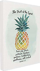 Stupell Industries Stupell Home Décor The Fruit of the Spirit Multicolored Pineapple Oversized Stretched Canvas Wall Art, 24 x 1.5 x 30, Proudly Made in USA