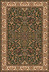 Milliken Carpet Pastiche Collection Abadan Rectangle Area Rug, 78 x 109, Lance green