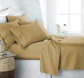 iEnjoy Home Simply Soft SS-6PC-KING-GOLD Bed Sheet Set, King, Gold