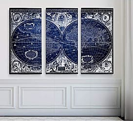WEXFORD HOME Blue Treasure Map Art Print 40 x 60 Multicolor