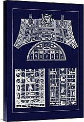 Bentley Global Arts Global Gallery Budget GCS-394711-1624-142 J. Buhlmann Decorative Painting in The Roman Vaults (Blueprint) Gallery Wrap Giclee on Canvas Wall Art Print