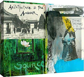 ArtWall Art Journal Architecture Gallery-Wrapped Canvas Art by Elena Ray, 24 by 32-Inch