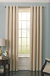 Ellery Homestyles BEAUTYREST Blackout Curtains for Bedroom - Malbrouk 52 x 63 Insulated Darkening Single Panel Grommet Top Window Treatment Living Room, Ivory