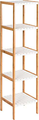 Costway 5-Tier Bamboo Utility Shelves Domestic Storage Freestanding Units Shelf