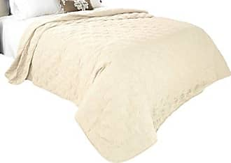 Trademark Global Solid Color Quilt by Bedford Home Full/Queen - Ivory