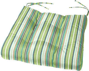 Cushion Source Sunbrella Striped 17.5 x 16 in. Chair Cushion Davidson Redwood - GKS5P-5606