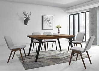 Omax Decor Nell Dining Side Chair - Set of 2 Gray - NF1007