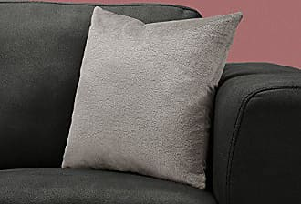 Monarch Specialties I 9272 Decorative Throw Pillow Mosaic Velvet 18x18 Grey