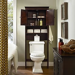 Crosley Furniture Lydia Wood Space Saver Cabinet in Espresso (Includes Hardware - Brown - Espresso/Brown - Traditional/Farmhouse)