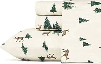 Revman International Eddie Bauer Deer Hollow Flannel Sheet Set Full Beige