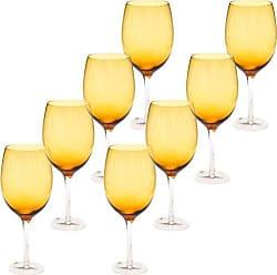 Certified International White Wine Stemware Glass (Set of 8), 20 oz, Dark Amber