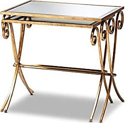 Wholesale Interiors Baxton Studio 151-9073-AMZ Coffee Tables, One Size, Antique Gold