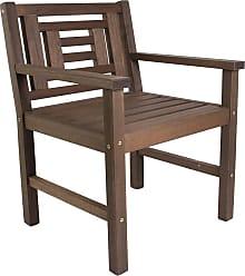 Mão & Formão Cadeira Poltrona Voltaire de Madeira - NogueiraNogueira