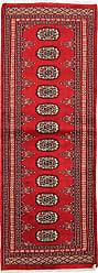 Nain Trading Oriental Rug Pakistan Buchara 2ply 58x21 Runner Rust/Pink (Wool, Pakistan, Hand-Knotted)