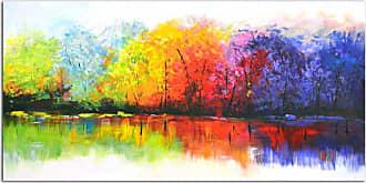 Omax Decor OMAX Decor Reflective Rainbow Trees Wall Art - M 3128