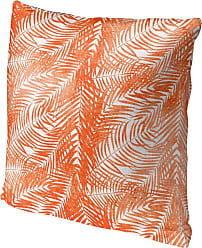 Kavka Designs Orange Palm Accent Pillow - IDP-DI16-16X16-TEL8478