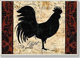 The Stupell Home Décor Collection Stupell Home Décor Rooster LHotel Kitchen Wall Plaque, 10 x 0.5 x 15, Proudly Made in USA