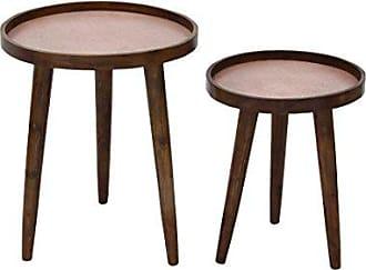 Deco 79 28730 Wood Metal Accent Tables (Set of 2), 20/24, Copper