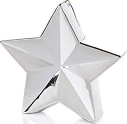 Zodax 9.25 Tall 5-Point Star Tabletop Decor, Silver (Set of 2) Christmas Ornaments