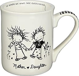Enesco 62012 Children of The Inner Light Daughter (from Mother) Stoneware Gift Mug, 16 oz, 4.25 H