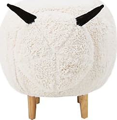 Noble House Best Selling 353082 A353082 Wooly Perfect for Nursey Kids Sheep Ottoman