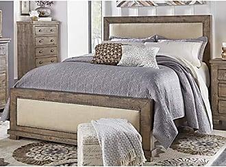 Progressive Furniture P635-34 Willow 5/0 Queen Upholstered Headboard, Weathered Gray