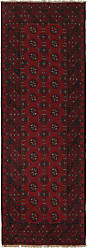 Nain Trading Oriental Rug Afghan Akhche 710x27 Runner Dark Brown/Purple (Wool, Afghanistan, Hand-Knotted)