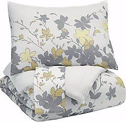Ashley Furniture Signature Design by Ashley Q388003Q Maureen 3 Piece Queen Comforter Set, Gray/Yellow