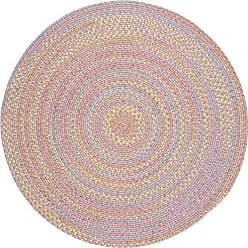 Rhody Rug Sandbox Pink Multi 8 Round