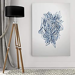 WEXFORD HOME Dmitry Andruz Leaves Blue Gallery Wrapped Canvas Wall Art, 16x20