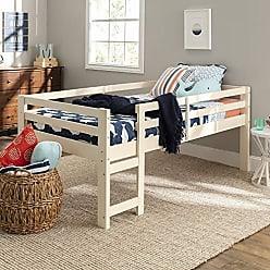 Walker Edison WE Furniture AZWJRTOLWH Loft Bed, Twin, White