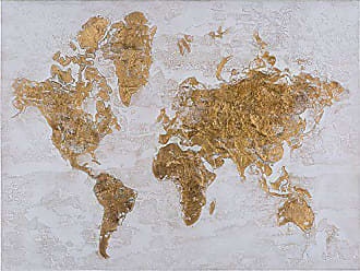 Yosemite Home Decor Yosemite Home Decor Map in Gold Multi