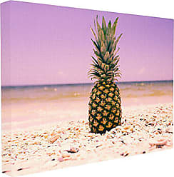 Stupell Industries Stupell Home Décor Pink Purple Pineapple Beach Oversized Stretched Canvas Wall Art, 24 x 1.5 x 30, Proudly Made in USA