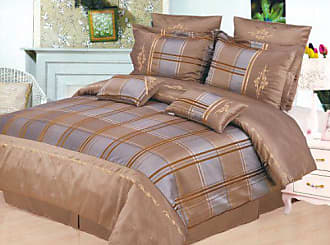Home City Inc. Madison 7-Piece Duvet Cover Set, Queen, Taupe