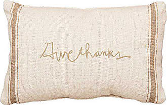 Primitives By Kathy Distressed Throw Pillow, 15 x 10-Inches, Give Thanks