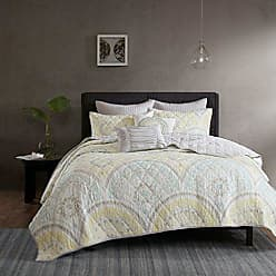 Urban Habitat Matti Full/Queen Quilt Bedding Set - Pale Aqua, Yellow, Medallion - 7 Piece Teen Girl Boy Bedding Quilt Coverlets - 100% Cotton Percale Bed Quilts Quilted Coverlet