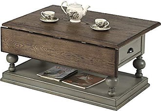 Progressive Furniture T580-16 Colonnades Drop-Leaf Cocktail Table, Weathered Grey/Oak