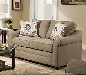 United Furniture Seguin Driftwood Loveseat - 1610-02 SEGUIN DRIFTWOOD
