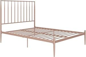 Ashley Furniture Dunston Metal Queen Bed, Pink