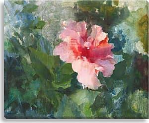 Gallery Direct Pink Hibiscus I Indoor/Outdoor Canvas Print by Allyson Krowitz, Size: Medium - NE73374