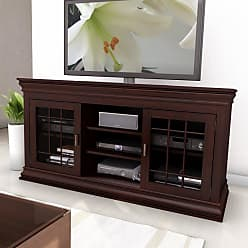 CorLiving B-231-NCT Carson 60 in. Wood Veneer TV / Component Bench - TCN-132-B