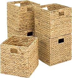 Best Choice Products Set of 5 Foldable Hyacinth Storage Baskets - Natural