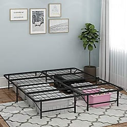 Furinno FB009CK Angeland Matress Foundation Platform Metal Bed Frame, California King, Black