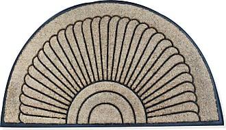 First Impression Sunburst Half Moon Tapered Edge Doormat - A1HOME200107-1